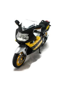 Joy City 1:12 Bike BMW K 1200 S Motorcycle Blue Die-cast Model Collection (Yellow)