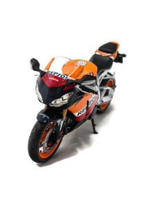 Joy City 1:12 Bike Honda CBR Fireblade Repsol Motorcycle Blue Die-cast Model Collection (Orange)