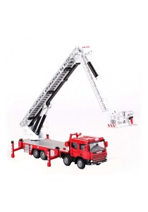 Kaidiwei 1:50 Die-Cast Platform Fire Engine Truck Red Color Metal Model