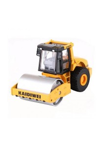 Kaidiwei 1:50 Die-Cast Single Drum Roller Truck Yellow Color Metal Model