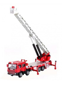 Kaidiwei 1:50 Die-Cast Ladder Fire Engine Truck Red Color Metal Model