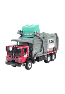 Kaidiwei 1:24 Die-Cast Garbage Truck Red Color Metal Model Collection