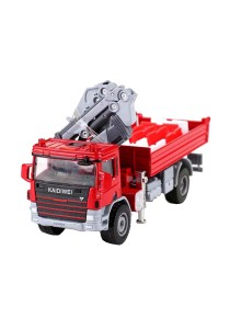 Kaidiwei 1:50 Die-Cast Ategowith Crane Truck Metal Model (Red)