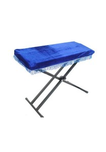 Velvet Draped Electric Piano / Keyboard Cover 61 Key (Blue)