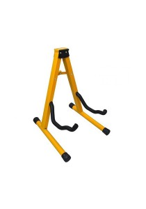 Guitar Bass Ukulele Stand Folding A Frame (Yellow)