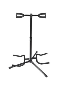 Double Guitar Stand Detachable Folding Adjustable (Black)