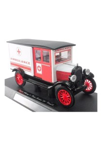 NewRay 1:32 Die-cast 1924 Chevy Series H Ambulance Classic Car White Color Model Collection Christmas New Gift