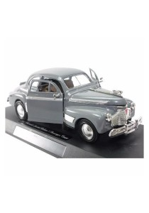 NewRay 1:32 Die-cast 1941 Chevrolet Special Deluxe 5 Passenger Coupe Classic Car Grey Color Model Collection Christmas New Gift