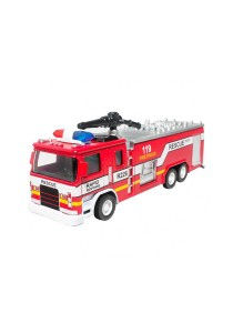1:32 Die-Cast Fire Engine Truck Red Model Collection Sound & Light & Pull Back