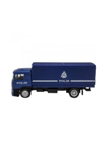 1:64 Scale Man Truck Polis Police Diraja Malaysia PDRM 109 Die-cast Truck Color (Blue)