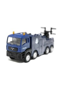 1:64 Man Tow Truck Polis Police Diraja Malaysia PDRM 129 Die-cast Truck (Blue)