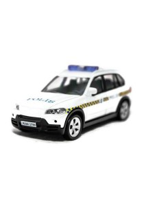 1:43 BMW X5 Polis Police Diraja Malaysia PDRM 169 Die-cast Blue Color Car (White )
