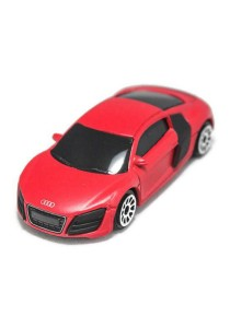 RMZ City 1:64 Die-cast AUDI R8 V10 Car (Metallic Red)