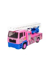 Sanrio Hello Kitty Die-Cast 6 inch Fire Ladder Truck Pink Model