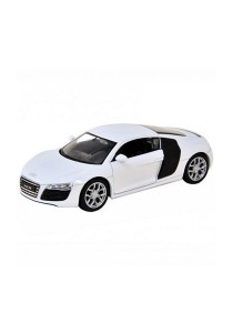 Welly 1:34-1:39 Die-cast Audi R8 V10 Car White Color Model Collection