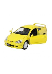 Welly 1:34-1:39 Die-Cast Honda Integra Type R Car Yellow Model Collection