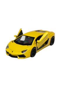 Welly 1:34-1:39 Die-Cast Lamborghini Aventador LP700-4 Car Yellow Model Collection