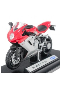 Welly 1:18 Die-Cast MV Agusta F3 800 Motorcycle Red Color Model Collection