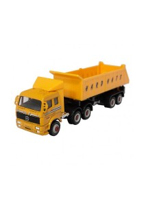 Welly 1:60 Die-Cast Mercedes-Benz Dump Truck Orange Color Model Collection