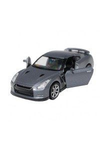Welly 1:34-1:39 Die-Cast Nissan GT-R R35 Car Grey Color Model Collection