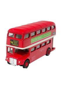 Welly 5 inch Die-Cast AEC Routemaster London Bus Red Color Model Collection
