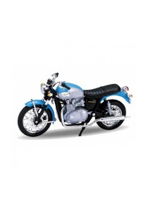 Welly 1:18 '02 Triumph Bonneville Die-cast Motorcycle Model Collection (Blue)