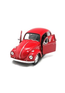 Welly 1:34-1:39 Volkswagen Beetle Hard Top Die-cast Car Model Collection (Red)
