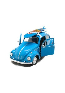 Welly 1:34-1:39 Scale Volkswagen Beetle Surfboard Die-cast Car Model Collection (Blue)