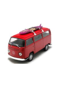 Welly 1:34-1:39 '72 Volkswagen Bus T2 Surfboard Die-cast Model Collection (Red)