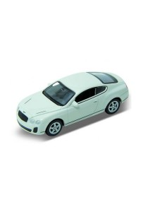 Welly 1:60 Bentley Continental Supersports Die-cast Car Model Collection (White)