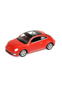 Welly 1:60 Volkswagen The New Beetle Die-cast Car Model Collection (Red)