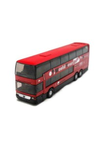 Welly 1:64 Mercedes-Benz Mb O 404 Dd Die-cast Bus Model Collection (Red)