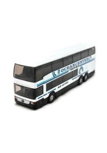 Welly 1:64 Mercedes-Benz Mb O 404 Dd Die-cast Bus Model Collection (White)