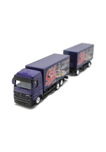 Welly 1:87 Mercedes-Benz Actros Die-cast Truck Model Collection (Purple)