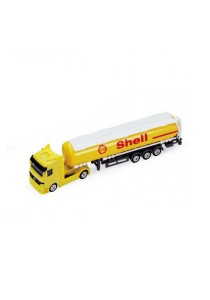 Welly 1:87 Mercedes-Benz Shell Oil Tanker Die-cast Truck Collection Model (Yellow)