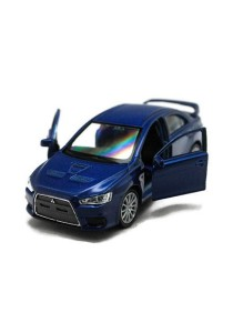 Welly 1:34-1:39 Mitsubishi Lancer Evolution X Die-cast Car Model Collection (Blue)