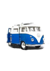 Welly 1:34-1:39 1963 Volkswagen T1 Bus Surfboard Die-cast Car Model Collection (Blue)