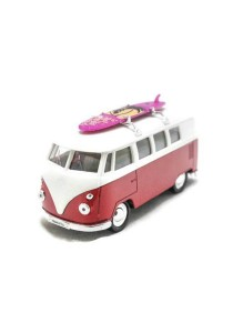 Welly 1:34-1:39 1963 Volkswagen T1 Bus Surfboard Die-cast Car Model Collection (Red)