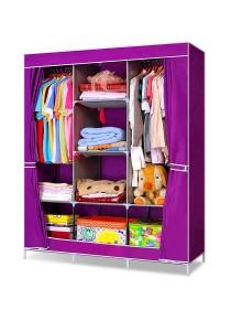 King Sized Curtain Wardrobe (Purple )