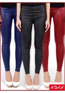 KM Elegant Lady Leather Pants M12405 (Free Size)