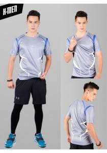 Super Hero Men's Sport Quick Dry Short Sleeves T-Shirt Tees M25687 (XMenGrey)