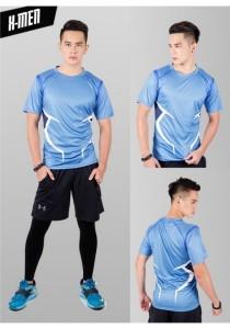 Super Hero Men's Sport Quick Dry Short Sleeves T-Shirt Tees M25687 (XMenBlue)