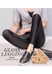 KM Korean Skinny Glossing Legging M362 (Black/FreeSize)