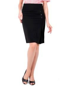 KM Elegant Pencil Skirt (Black)