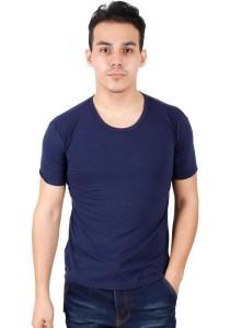 KM Men Short Sleeve Round Neck T-Shirt - Dark Blue