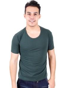 KM Men Short Sleeve Round Neck T-Shirt - Green