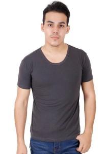 KM Men Short Sleeve Round Neck T-Shirt - Grey