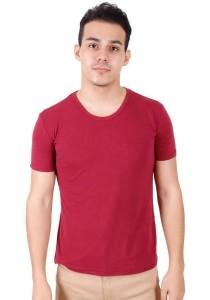 KM Men Short Sleeve Round Neck T-Shirt - Red