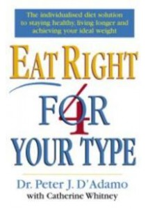 Eat Right 4 Your Type -- Paperback ( by D'adamo, Peter/ Whitney, Catherine ) [9780712677165]