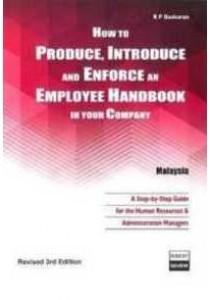 [RP Baskaran ] How to Produce, Introduce and Enforce an Employee Handbook in Your Company, Malaysia (Books Kinokuniya)